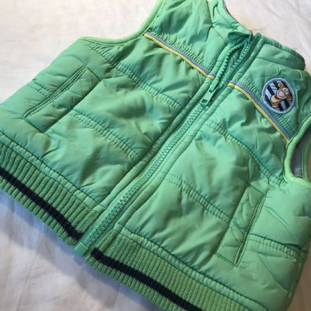 6-9 Month Green Quilted Body Warmer